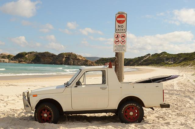 Surf, Beach, Ute, Surfer, Albany