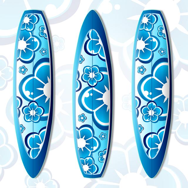 Surfboard, Surfing, Stylish, Blue, Sport, Water Sports