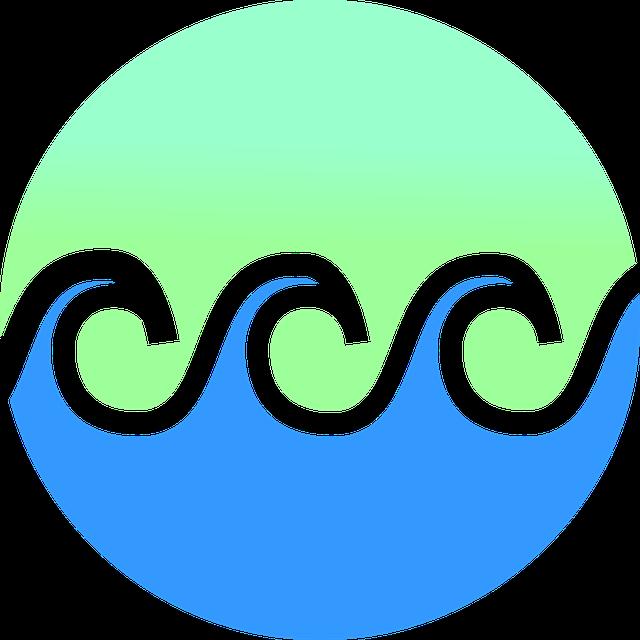 Waves, Gradient, Beach, Water, Logo, Surf, Surfing
