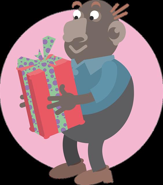 Man, Parcel, Gift, Surprise