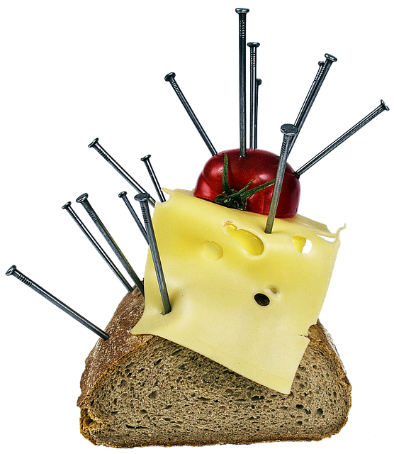 Bread, Cheese, Tomato, Breakfast, Surreal, Art