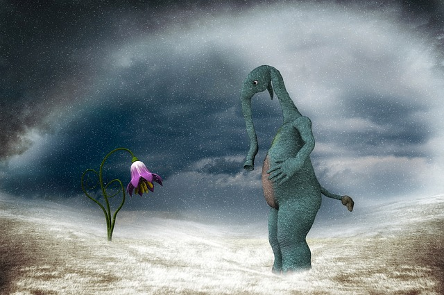 Surreal, Winter, Flower, Small Wonder, Digital Art
