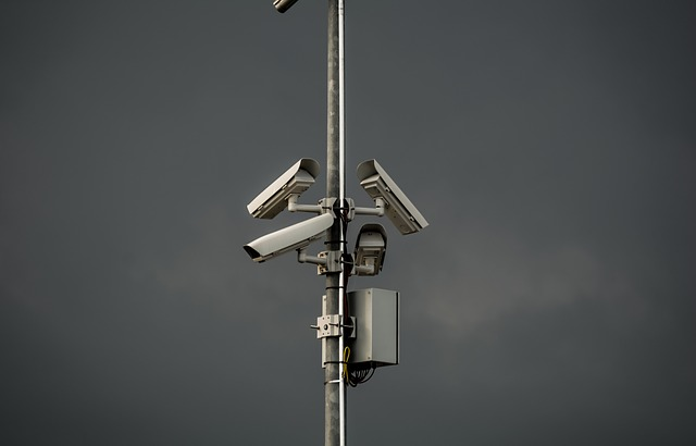 Surveillance, Camera, Tower, Post