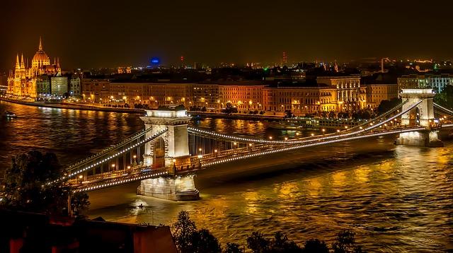 Szechenyi Chain Bridge, Suspension Bridge, Landmark