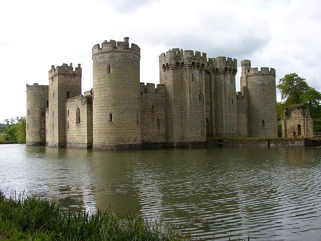 Castle, Medieval, Bodiam, Sussex, England, Defence