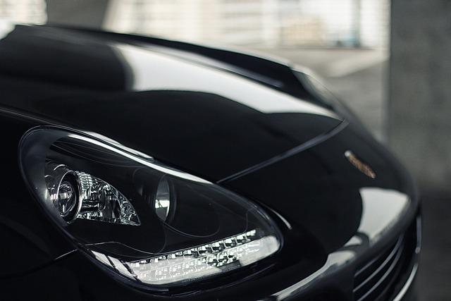 Car, Exotic, Luxury, Headlight, Suv, Black, Porsche