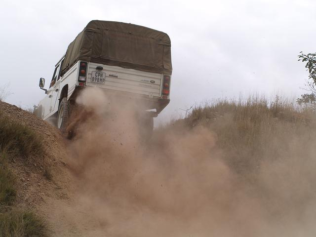 Truck, Suv, Vehicle, Outdoor, Road, Car, Dust, Hill