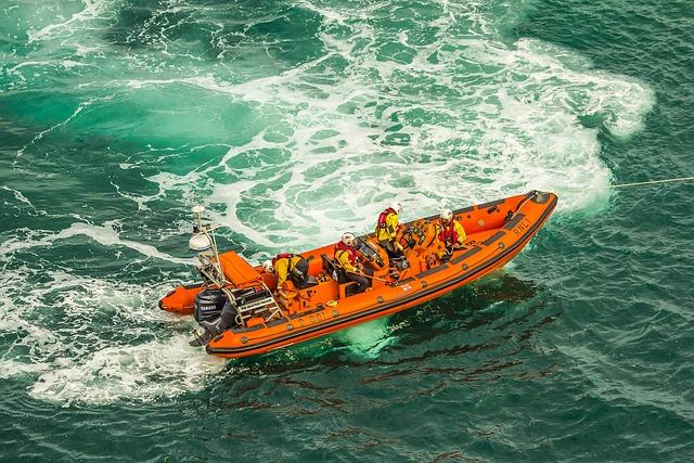 Zachranari, Inflatable Boat, Ocean, Swanage Bay