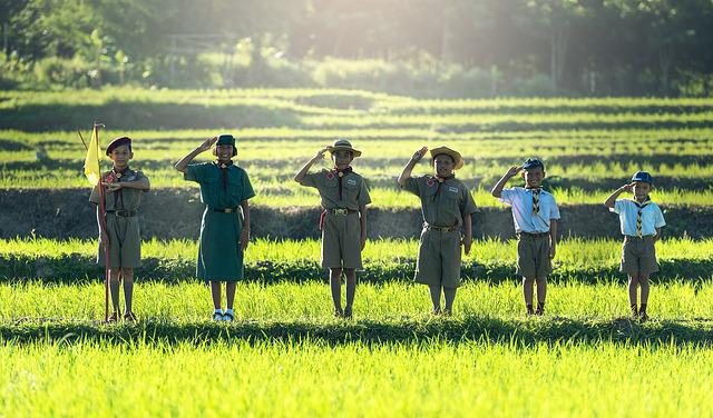 Boys, Scout, Scouting, Asia, Same, Thailand, Swear Word
