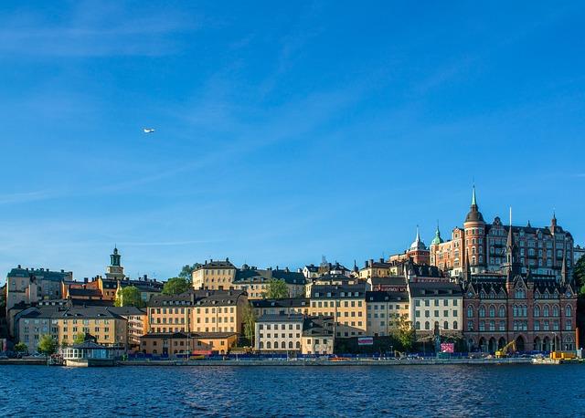 Sweden, Stockholm, Pier, Beach