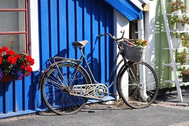 Sweden, Karlskrona, Bike, House, Architecture