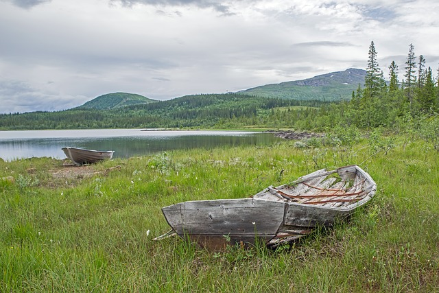 Sweden, Fjäll, Landscape, Nature, Wide, Boat, Rest