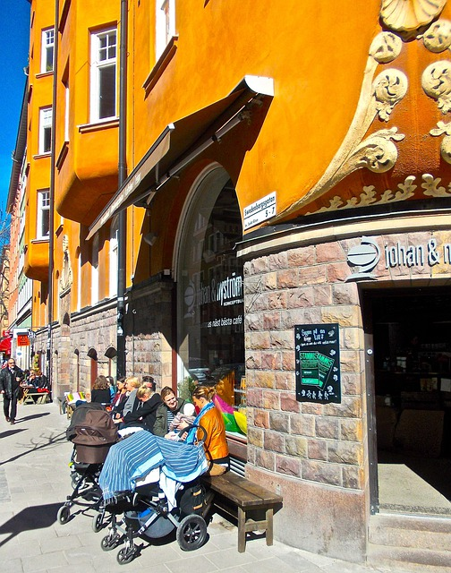 Facade, Outdoor Seating, Café, Swedenborgsgatan