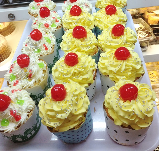 Cup Cake, Yellow, Sweet