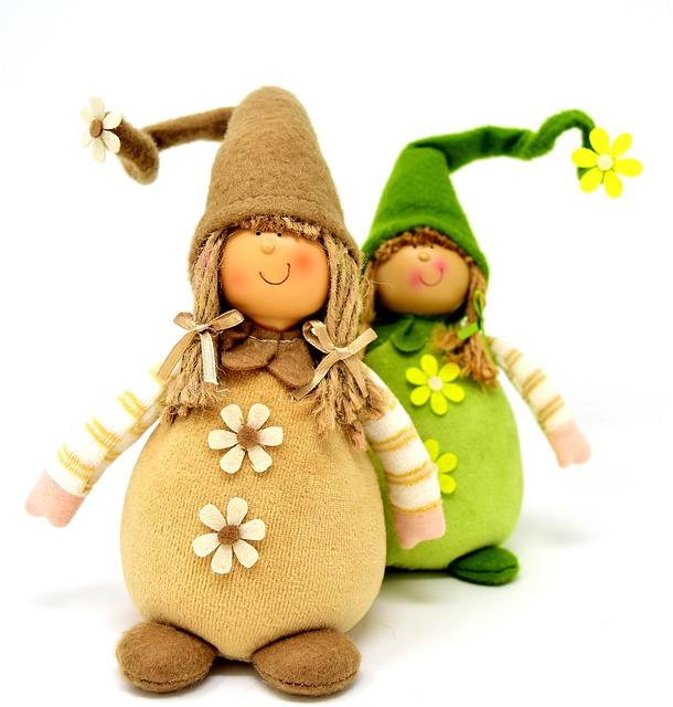 Imp, Spring Imp, Cute, Deco, Funny, Dwarf, Green, Sweet