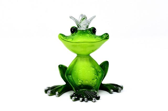 Frog, Frog Prince, Crown, Figure, Cute, Funny, Sweet