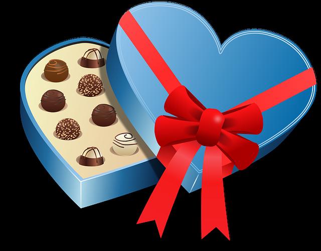Box, Food, Love, Pralines, Sweet, Valentines, Romantic