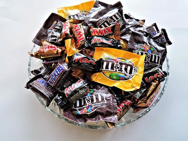Halloween Candy, Chocolates, Nuts, Sweet, Small Size