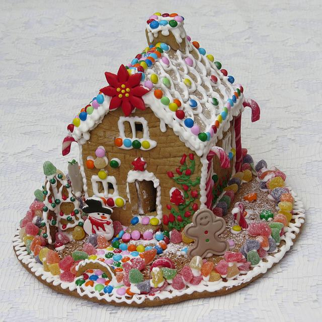 Gingerbread House, Pastry, Gingerbread, Candy, Sweet