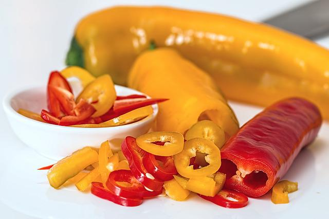 Sweet Pepper, Bell Pepper, Salad, Food, Fresh, Pepper