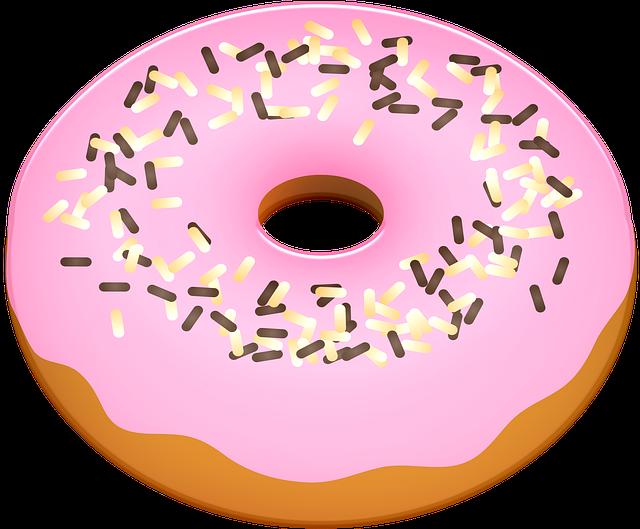 Donut, Pink, Cake, Dessert, Sweet, Food, Sugar