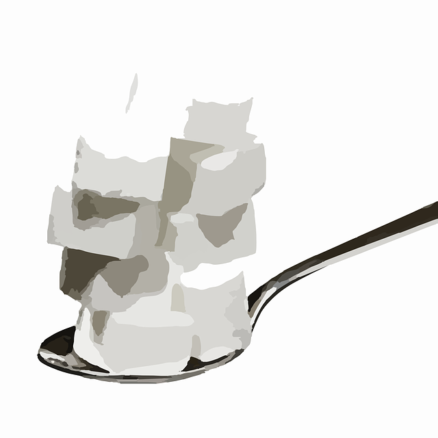 Sugar Cubes, Spoon, Sweet, Sugar