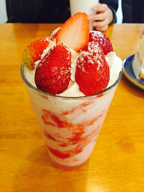 Food, Dessert, Snack, Cafe, Strawberry, Yoghurt, Sweet