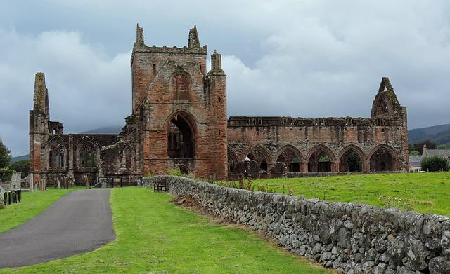 Sweetheart Abbey, Scotland, Dumfries, Galloway, Nith