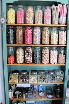 Candy, Candy Store, Candy Bottles, Jars, Sweets