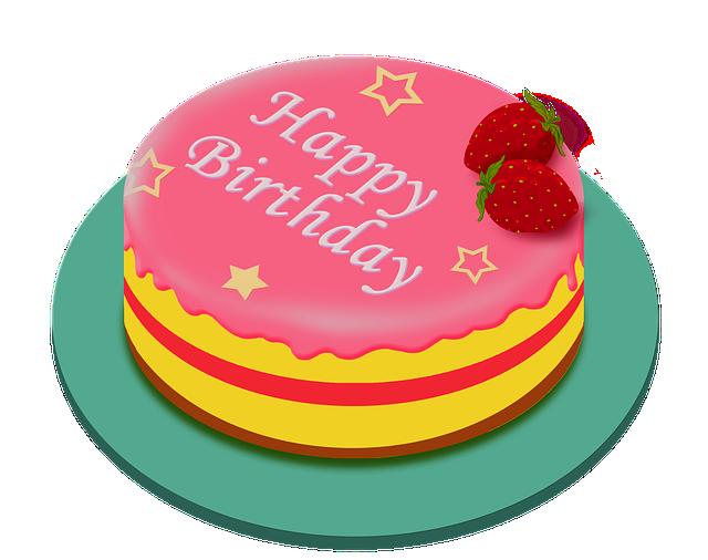 Birthday Cake, Happy Birthday, Cake, Pink, Sweets