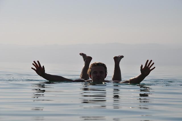 Dead Sea, Jordan, Swim, Flows, Summer