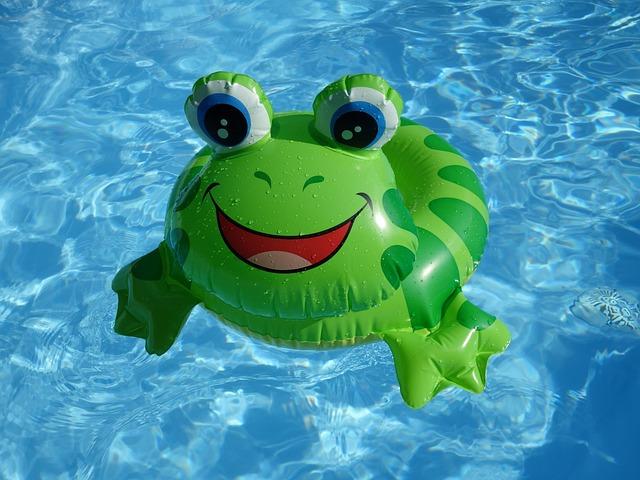 Frog, Float, Plastic, Summer, Swim, Toys