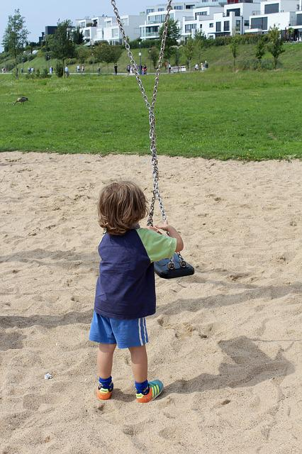 Child, Swing, Turn, Play, Playground