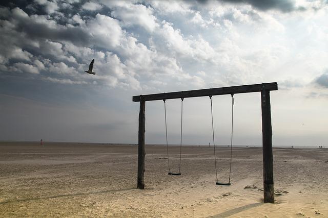Swing, Beach, Playground, Holiday