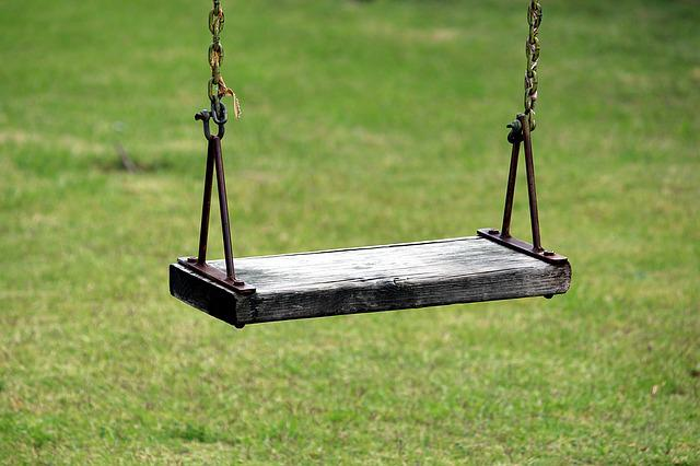 Swing, Rush, Playground, Meadow, Play, Children's, Out
