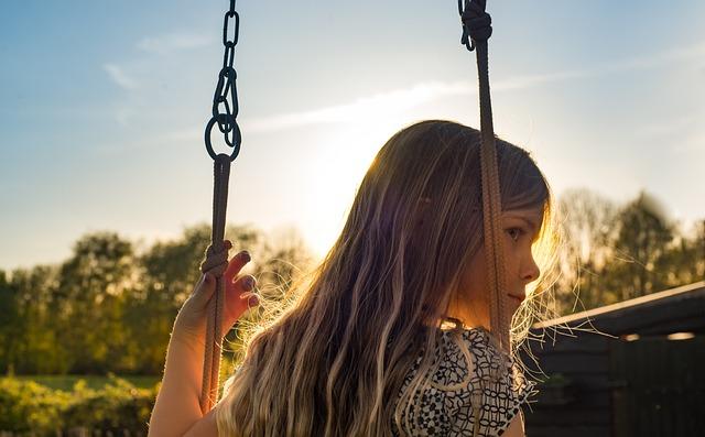Girl, Swing, Summer, Fun, Swinging, Playground, Happy