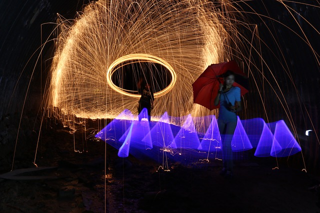 Firespin, Steelwool, Lightplay, Light, Spin, Swirl