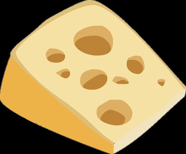 Swiss Cheese, Swiss, Cheese, Food, Yellow, Dairy, Snack