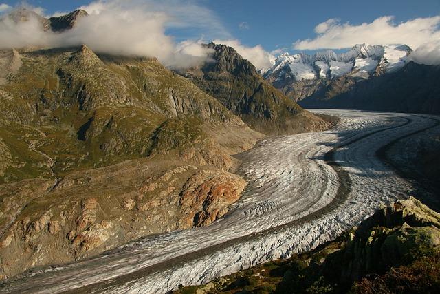 Aletsch Glacier, Switzerland, Valais, Glacier