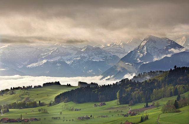 Bernese Oberland, Switzerland, Alpine, Mountains