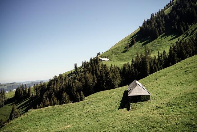 Switzerland, Diemtigtal, Hiking, Mountains, Hut, House