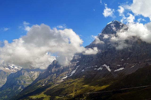 Eiger North Face, Panorama, Alpine, Switzerland