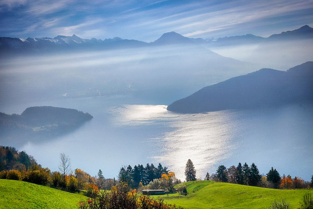 Lake Lucerne Region, Water, Lake, Switzerland