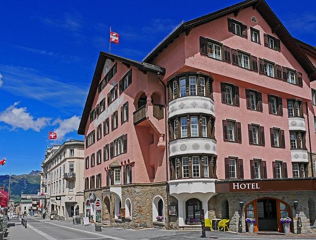 Pontresina, Main Road, Engadin, Switzerland, Rhätikon