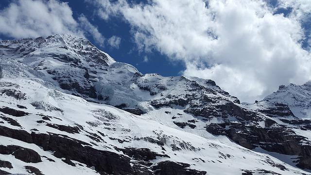 High Mountains, Mountain, Monk, Switzerland, Glacier