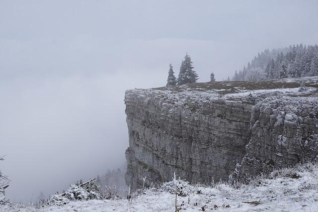 Creux Du Van, Mountains, Abyss, Switzerland, Cliff, Fog