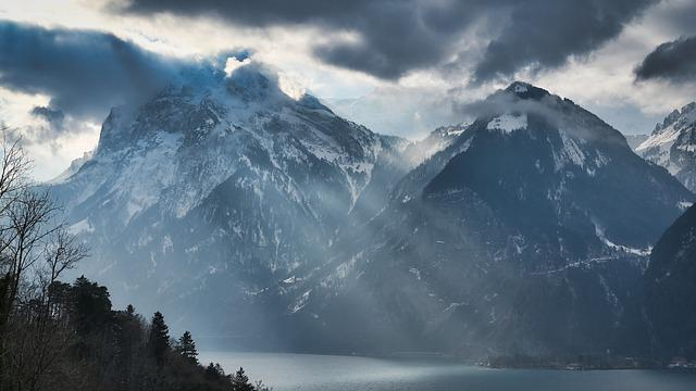 Lake Lucerne Region, Mountains, Switzerland, Nature