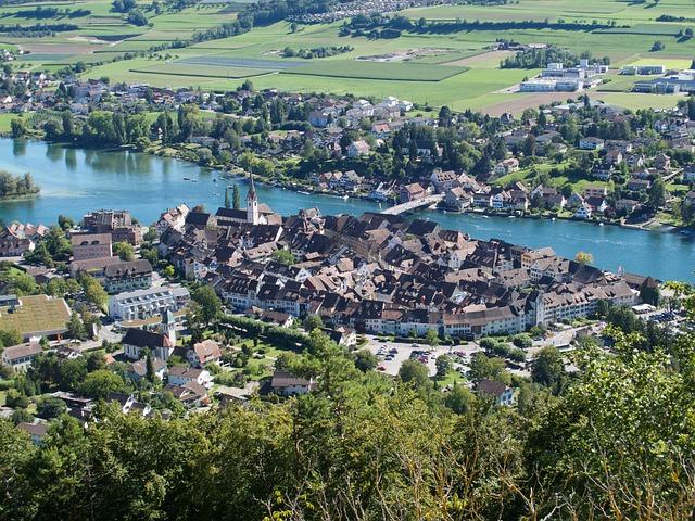 Stein Am Rhein, Old Town, Switzerland, Roofs, Rhine