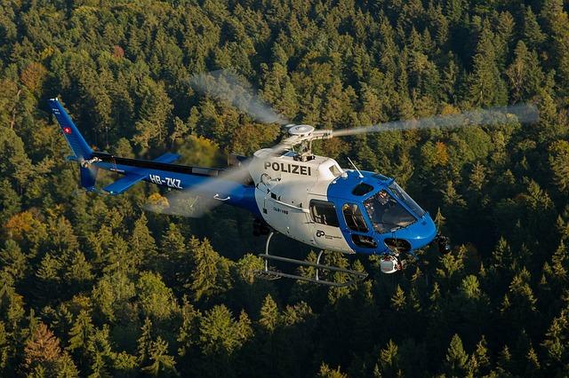 Zurich Cantonal Police, Helicopter, Zurich, Switzerland
