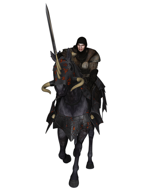 Man, Knight, Horse, Armor, Sword, Middle Ages